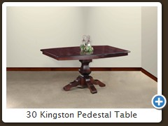 30 Kingston Pedestal Table