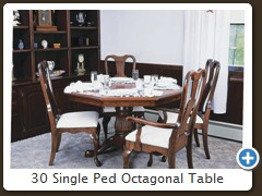 30 Single Ped Octagonal Table