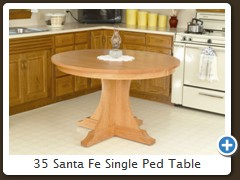 35 Santa Fe Single Ped Table