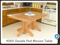 4060 Double Ped Mission Table
