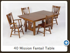 40 Mission Fantail Table