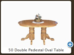 50 Double Pedestal Oval Table