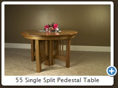 55 Single Split Pedestal Table