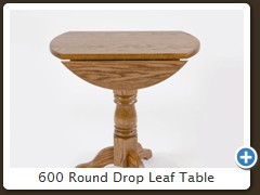 600 Round Drop Leaf Table