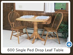 600 Single Ped Drop Leaf Table