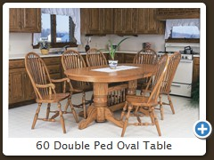 60 Double Ped Oval Table