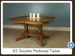 65 Double Pedestal Table