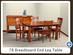 78 Breadboard End Leg Table